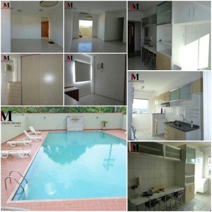Vendemos apartamento semi mobiliado no Pinhais I com 2 vagas de garagens