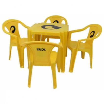 mesa 4 cadeira skol