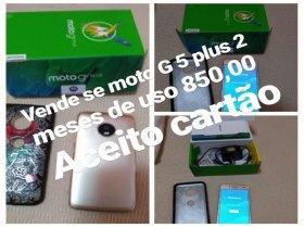 Celular Moto G5 Plus. Novo com nota fiscal.