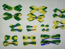 Presilhas Cores da Bandeira do Brasil para a Copa