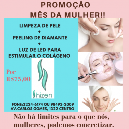 LIMPEZA DE PELE +PEELING DE DIAMANTE