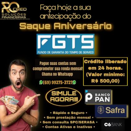 Antecipação do saque aniversário do FGTS e Crédito consignado