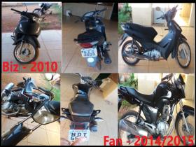 Vende-se motos Biz 2010 e uma Fan 2014/2015