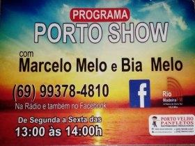 Programa Porto Show com Marcelo Melo e Bia Melo