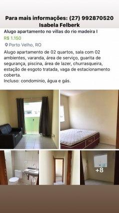 Alugo apartamento no Villas do rio madeira1