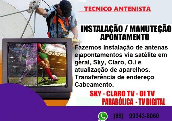 Tecnico em instalacao de antenas via satelites e parabolicas