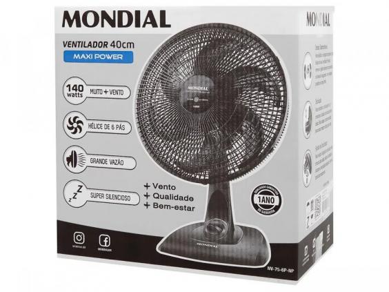 Super Promoção Ventilador Mesa Mondial 40cm 110v 140w