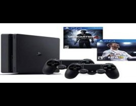 Playstation 4 HD 500GB + jogo FIFA 18 + Jogo Uncharted 4