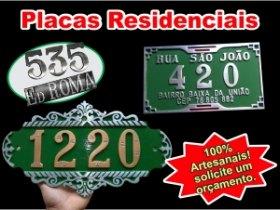 Placas para residenciais