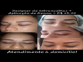 Designer de Sobrancelhas + Aplicação de Henna
