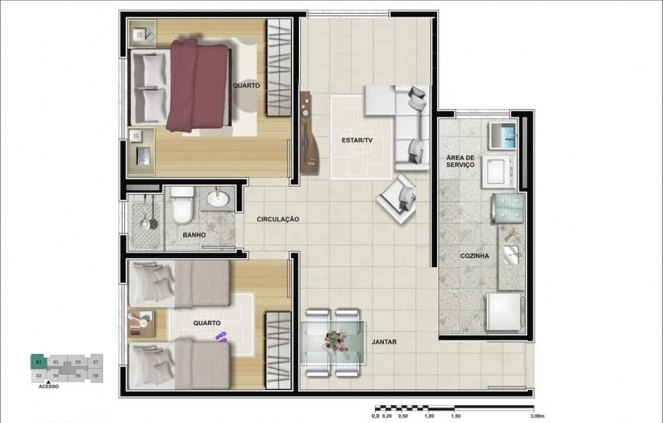 Apartamento Total Ville II