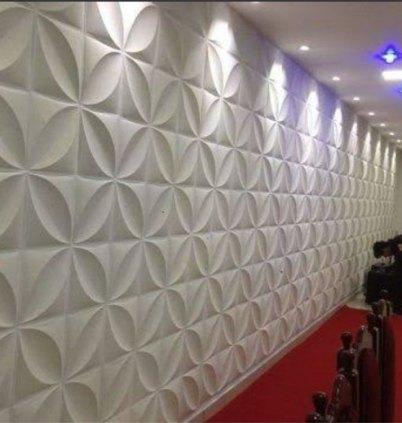 Placas de gesso 3D revestimento paredes