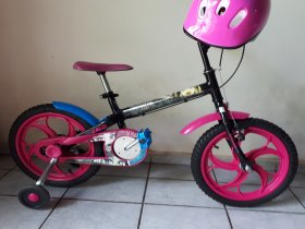 Bicicleta Caloi Monster High Aro 16 Preta