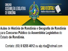 Sai o Edital para o Concurso da Assembleia Legislativa de RO.