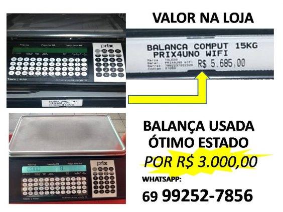 Balança  / etiqueta de data de validade