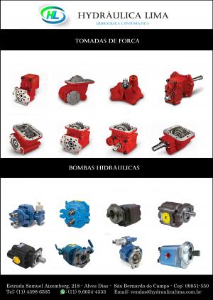 Peças e componentes hidráulicos para caminhões