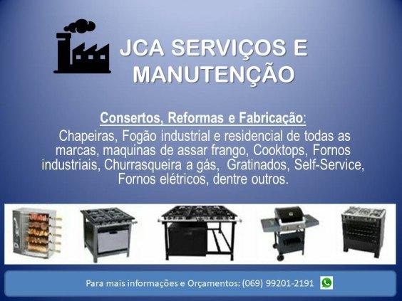 Manutenção de fogão industrial e doméstico