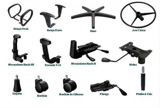 Reforma/substituição de peças de poltronas e cadeiras de Escritório
