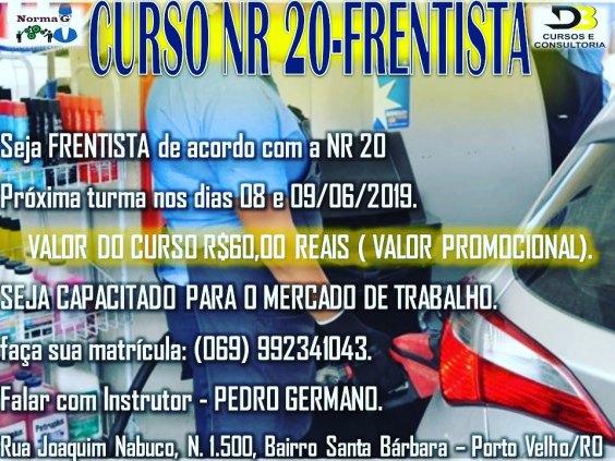 CURSO NR 20 FRENTISTA