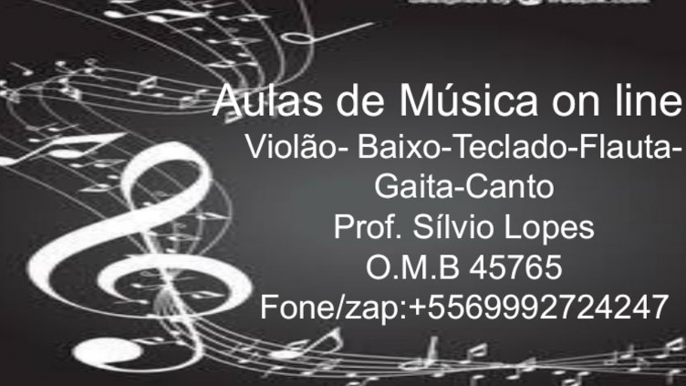 Aulas de Música On Line