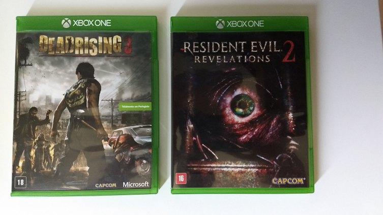 Jogos Resident Evil Revelations 2 + Deadrising 3 (Xbox One-semi novissímos)!