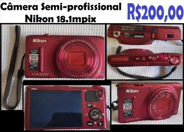 Câmera Semi-profissional Nikon 18.1mpix