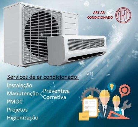 Limpeza, desinstalação e instalação de centrais de ar