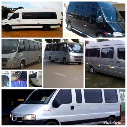 Vans,micro ônibus e Ônibus