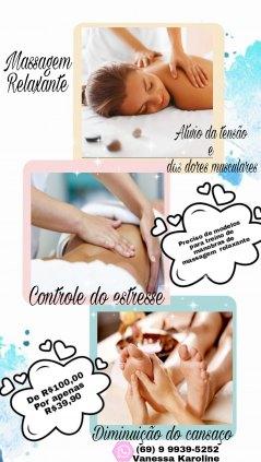 Massagem relaxante e linfática