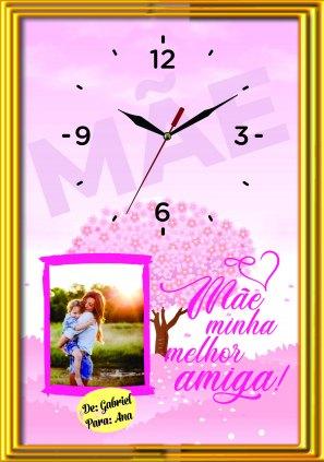 MOLDURA TAMANHO A4 COM RELOGIO