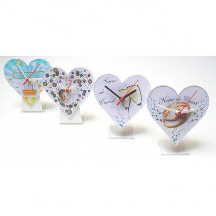 Relógio em Formato de Coração para brindes