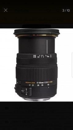 Lente sigma 17-50 para Canon