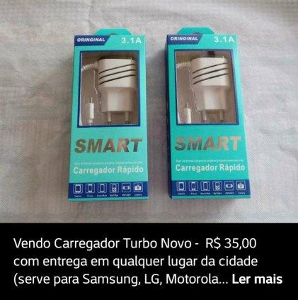 Carregador Turbo c/ Entrega