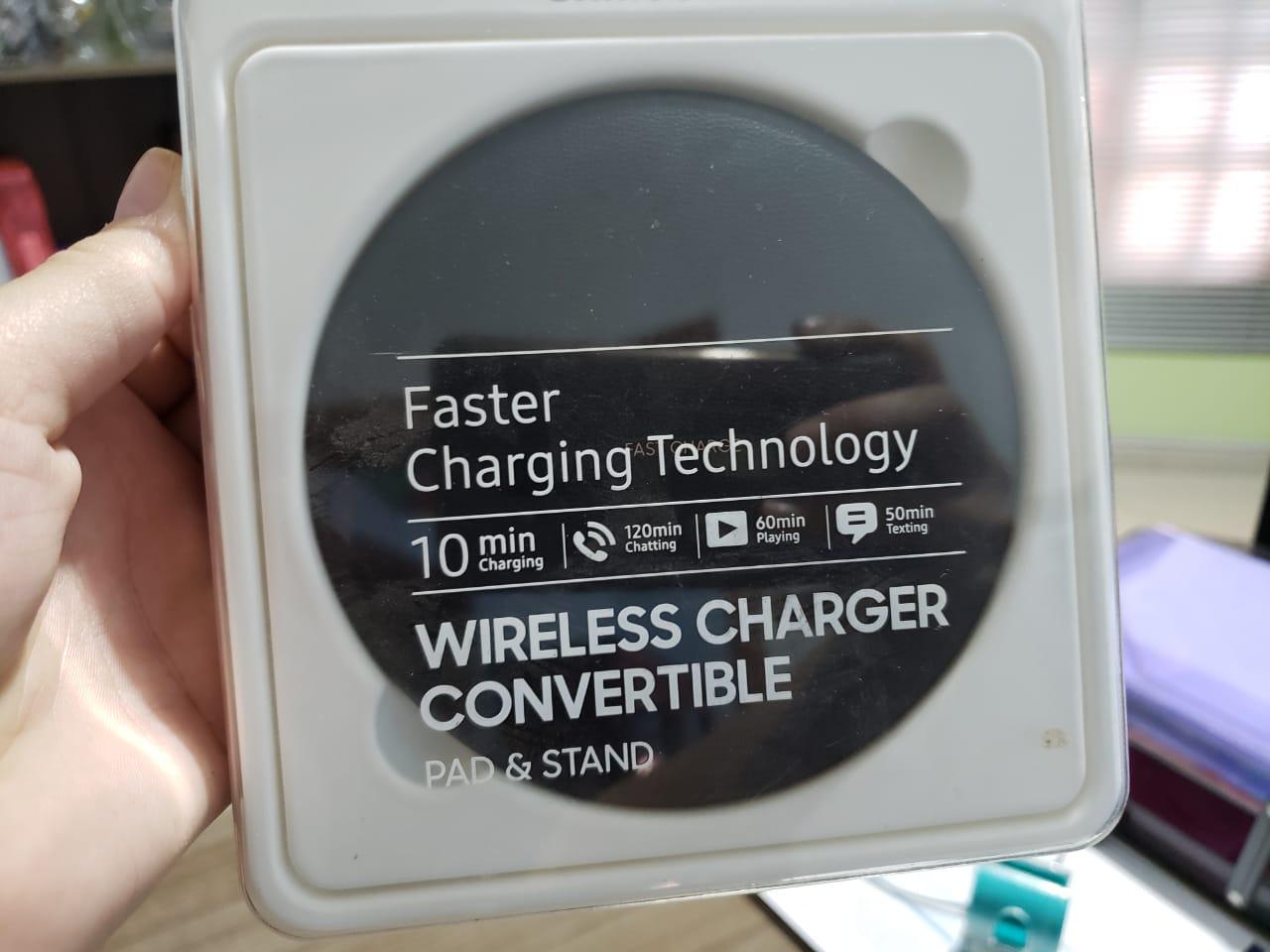 Vende-se Carregador Faster (rápido) Wireless Charger Convertible - Samsung original