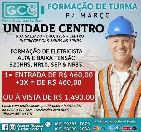Curso de Eletricista, Alta e Baixa Tensão, NR 10, NR 35, SEP e Introdução a Eletricidade Industrial
