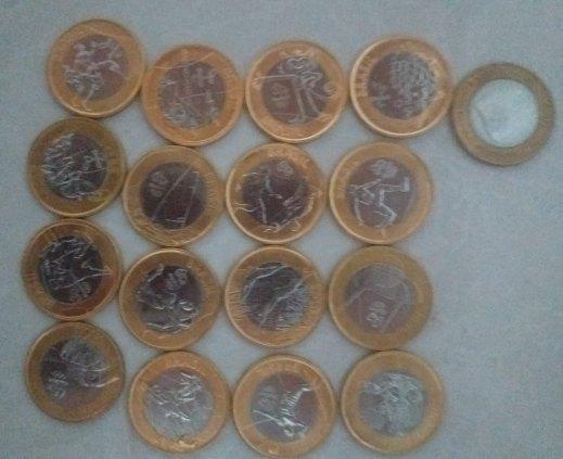 Vendo coleção de moedas das olimpiadas.