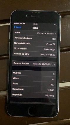 iPhone SE 128gb branco