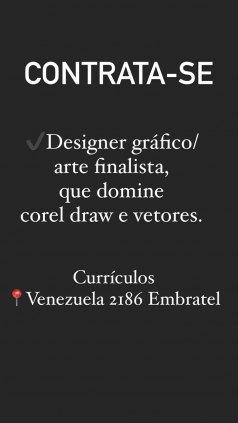 VAGA DE EMPREGO:  Designer gráfico/ arte finalista