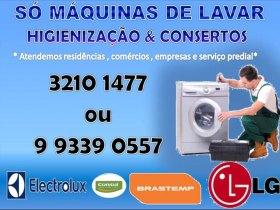 Higienização e concerto de maquina de lavar