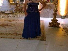 Vestido Longo de Seda com Pedraria