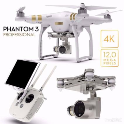 Drone Phantom 3 Professional, Câmera 4k + Bag + 6 Aulas De Vôo