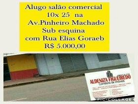 Alugo salão comercial na Pinheiro