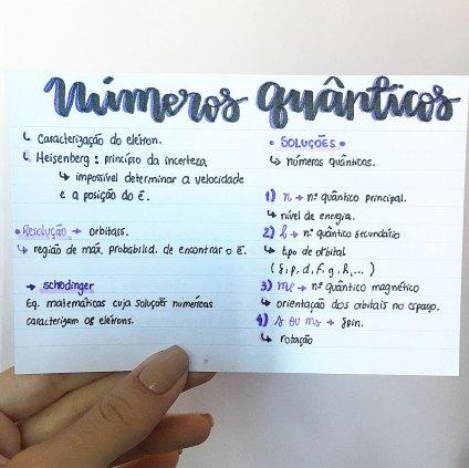 Caderno de Questões. Química. Números Quânticos.