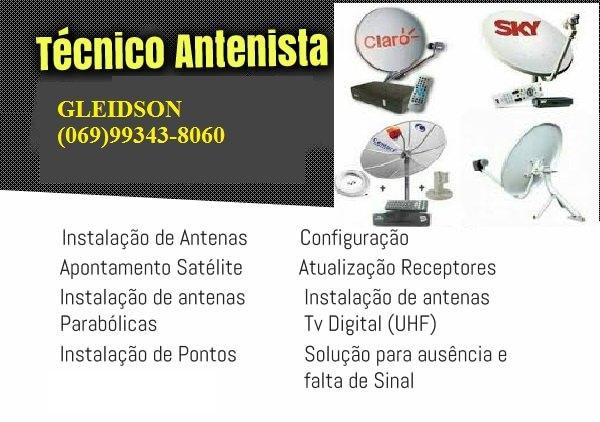 Tecnico  em instalacao de antenas via satélites e parabólicas