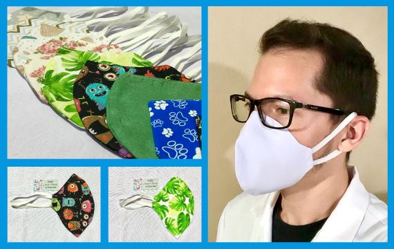 Máscara de tecido reutilizável