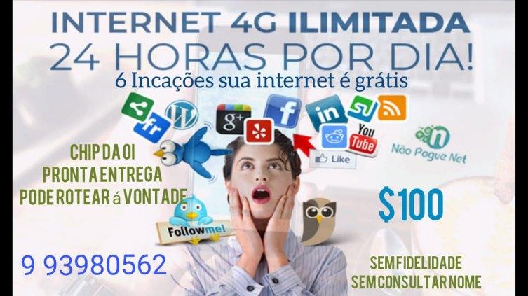 INTERNET ILIMITADA 4G