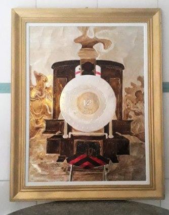Quadro Decorativo Locomotiva Maria Fumaça