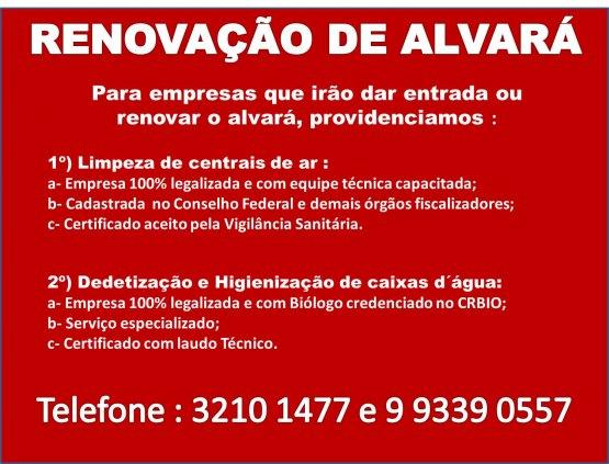 RENOVAÇÃO DE ALVARÁ